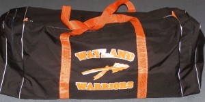 Large Wayland Warriors hockey bag