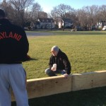 Coach Muzz supervises Colman Lydon and Will Curry
